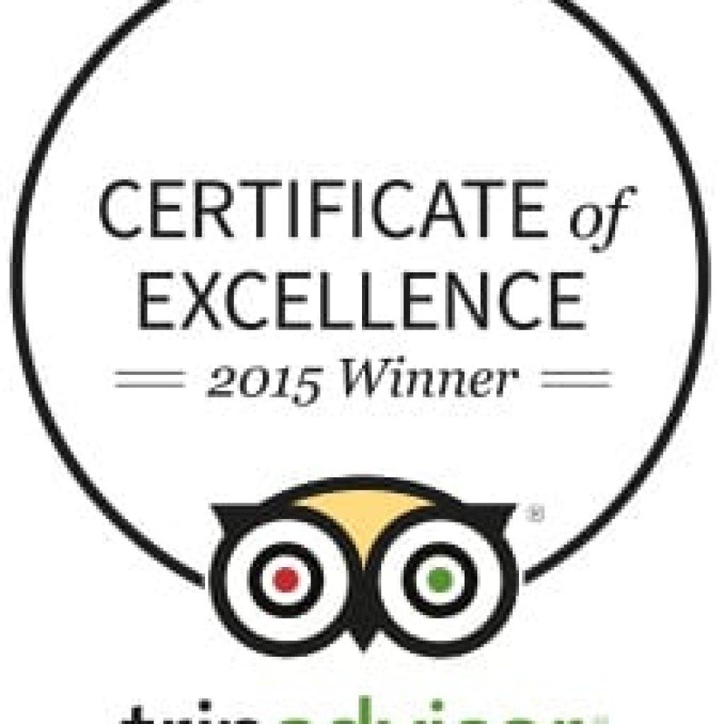 Tripadvisor Certificate of Excellence 2015 Villa Magdalena