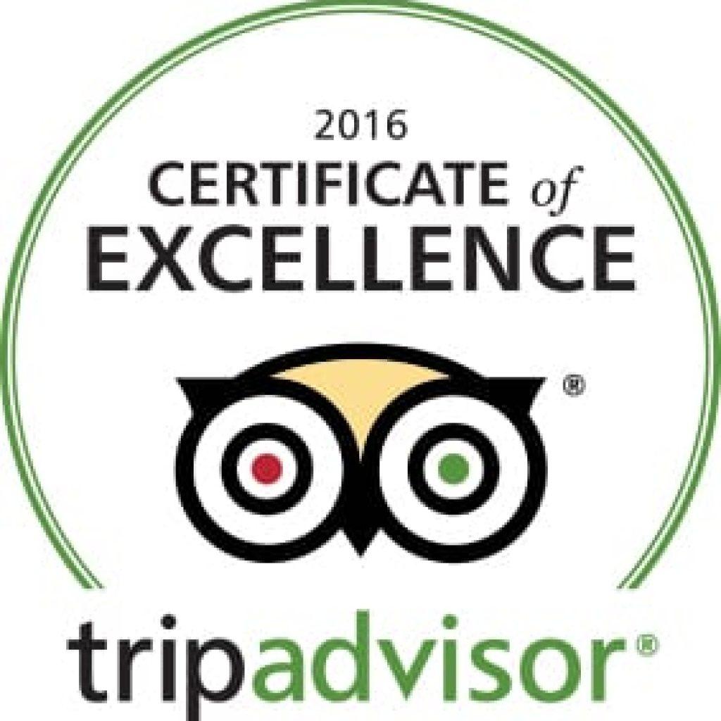 TripAdvisor Certificate of Excellence 2016 - Hotel Villa Magdalena, Krapinske Toplice