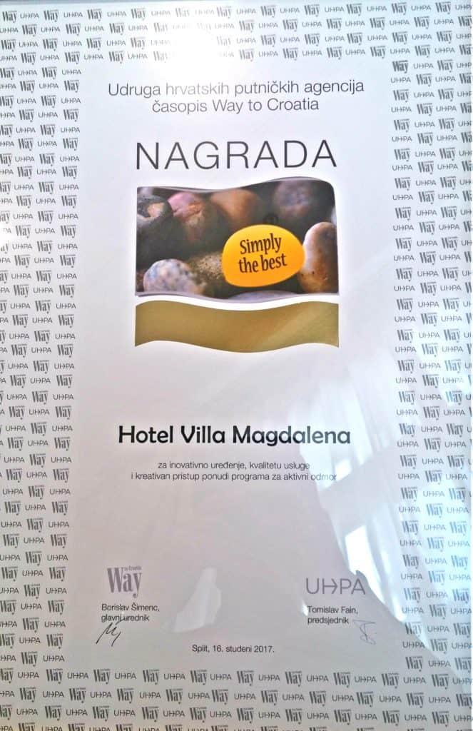 Nagrada Simply the best - Hotel Villa Magdalena, Krapinske Toplice