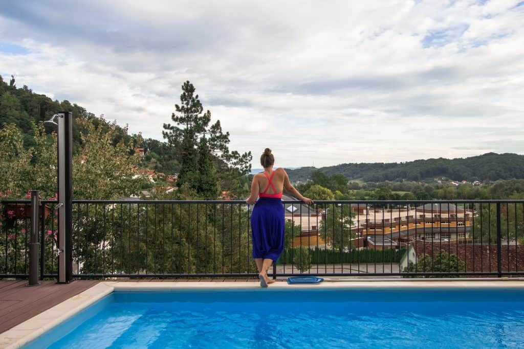 Krapinske Toplice - Hrvatsko Zagorje - pogled iz Hotela Villa Magdalena